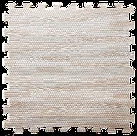 Модульное напольное термо покрытие (60*60*1 см) Мягкий пол пазл Дерево светлое