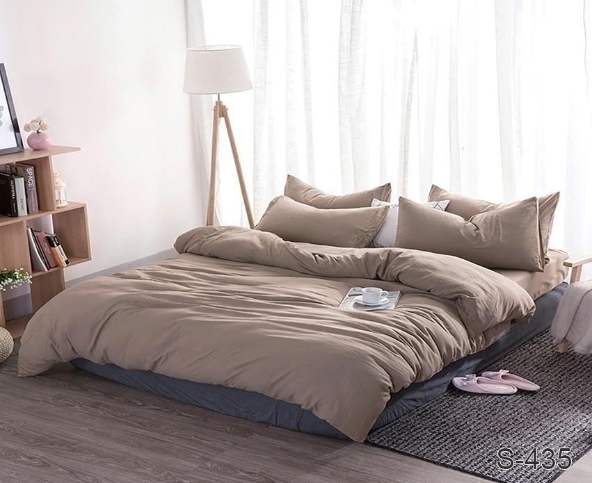 Семейный комплект постельного белья сатин люкс S435
