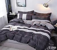 Полуторный комплект постельного белья сатин люкс с компаньоном S449