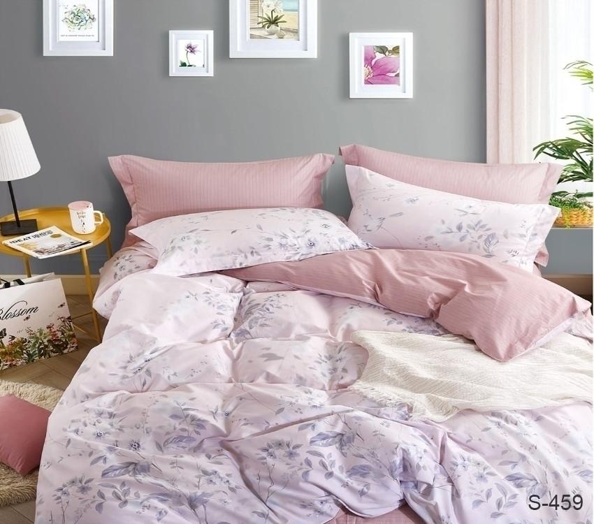 Полуторный комплект постельного белья сатин люкс с компаньоном S459