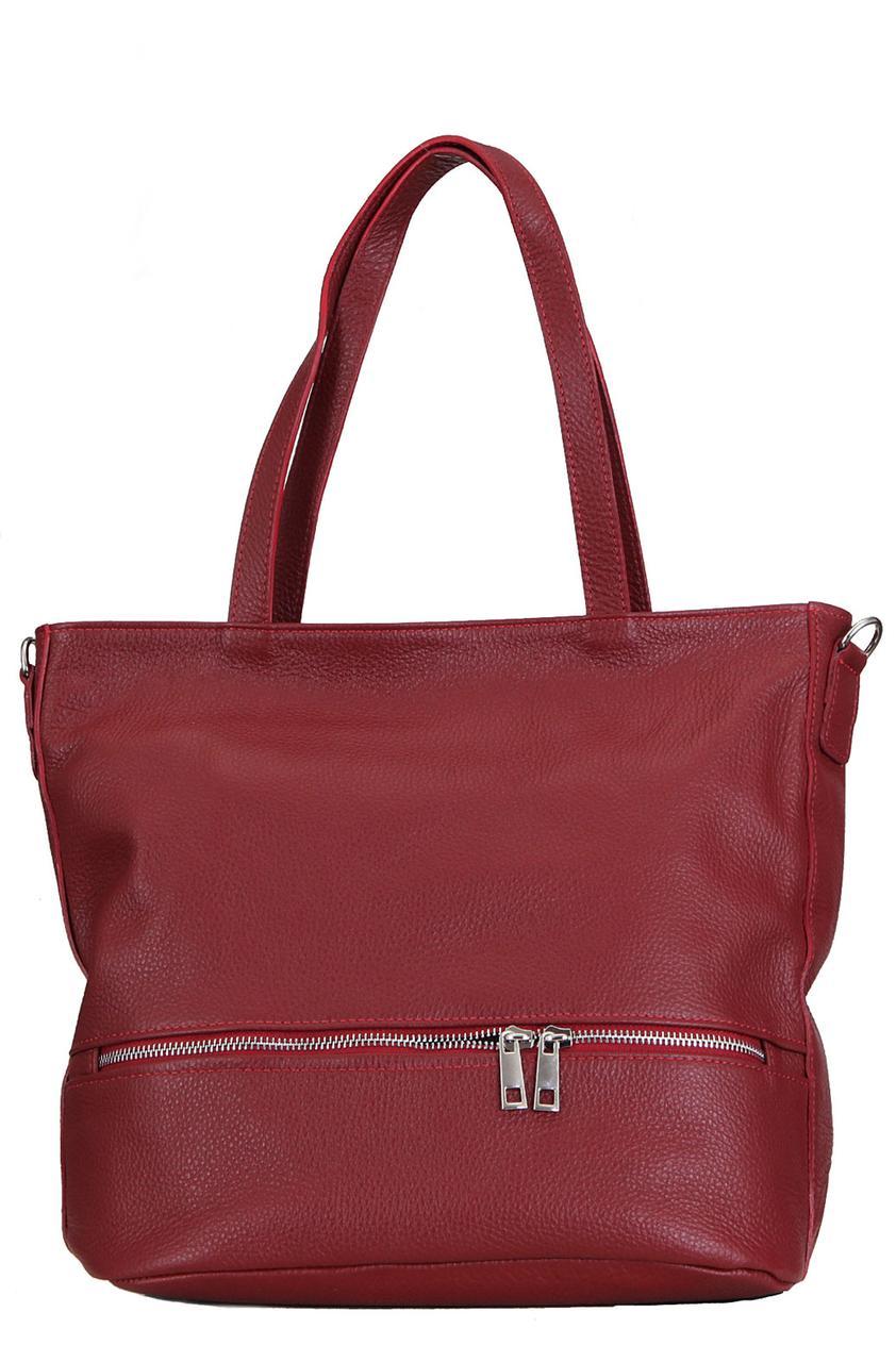 Женская сумка ANTONELLA кожаная от Diva's Bag цвет бордовый