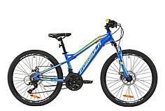 """Велосипед 24"""" Formula BLACKWOOD 1.0 2020 (сине-желто-салатовый)"""