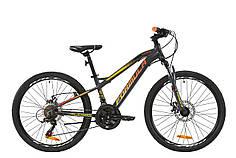 """Велосипед 24"""" Formula BLACKWOOD 1.0 2020 (серо-красно-оранжевый (м))"""