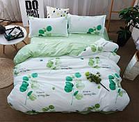 Двуспальный комплект постельного белья сатин люкс с компаньоном S450, фото 1