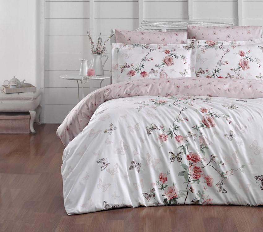 Двуспальный комплект постельного белья сатин люкс с компаньоном S456