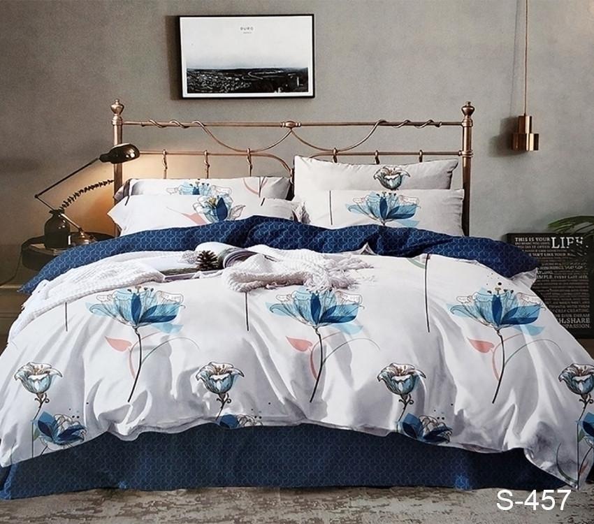 Двуспальный комплект постельного белья сатин люкс с компаньоном S457