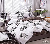 Двуспальный комплект постельного белья сатин люкс с компаньоном S458