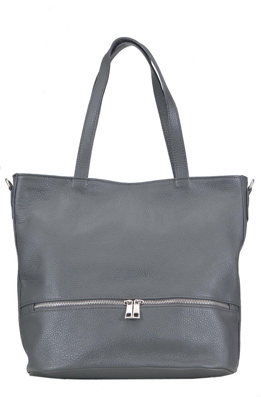 Женская сумка ANTONELLA кожаная от Diva's Bag темно-серого цвета