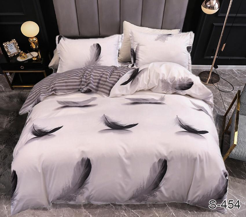 Семейный комплект постельного белья сатин люкс с компаньоном S454