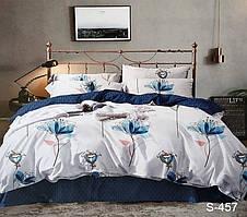 Семейный комплект постельного белья сатин люкс с компаньоном S457