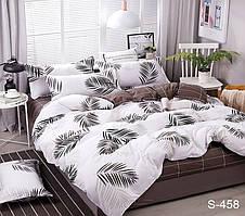 Семейный комплект постельного белья сатин люкс с компаньоном S458
