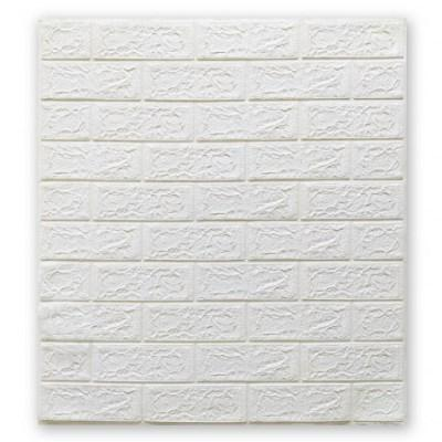 Мягкие 3D панели 700x770x4мм (самоклейка) Белый Кирпич