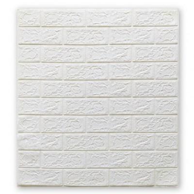 Мягкие 3D панели 700x770x5мм (самоклейка) Белый Кирпич