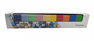 Деревянные кубики цветные 11221