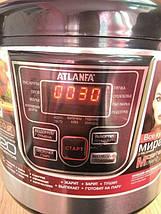 Мультиварка ATLANFA AT-M07 на 6л 900Вт - электрическая скороварка, рисоварка, пароварка для дома 12 программ, фото 3