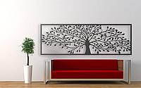 """Декор для стен. Панно из металла """"Дерево жизни"""" 160*55 см"""