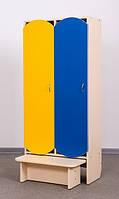 Двух местный шкаф для одежды с лавкой