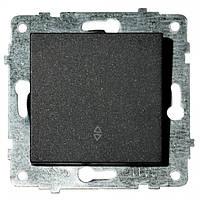 Механизм выключателя проходной 1-клавишный GRANO черный