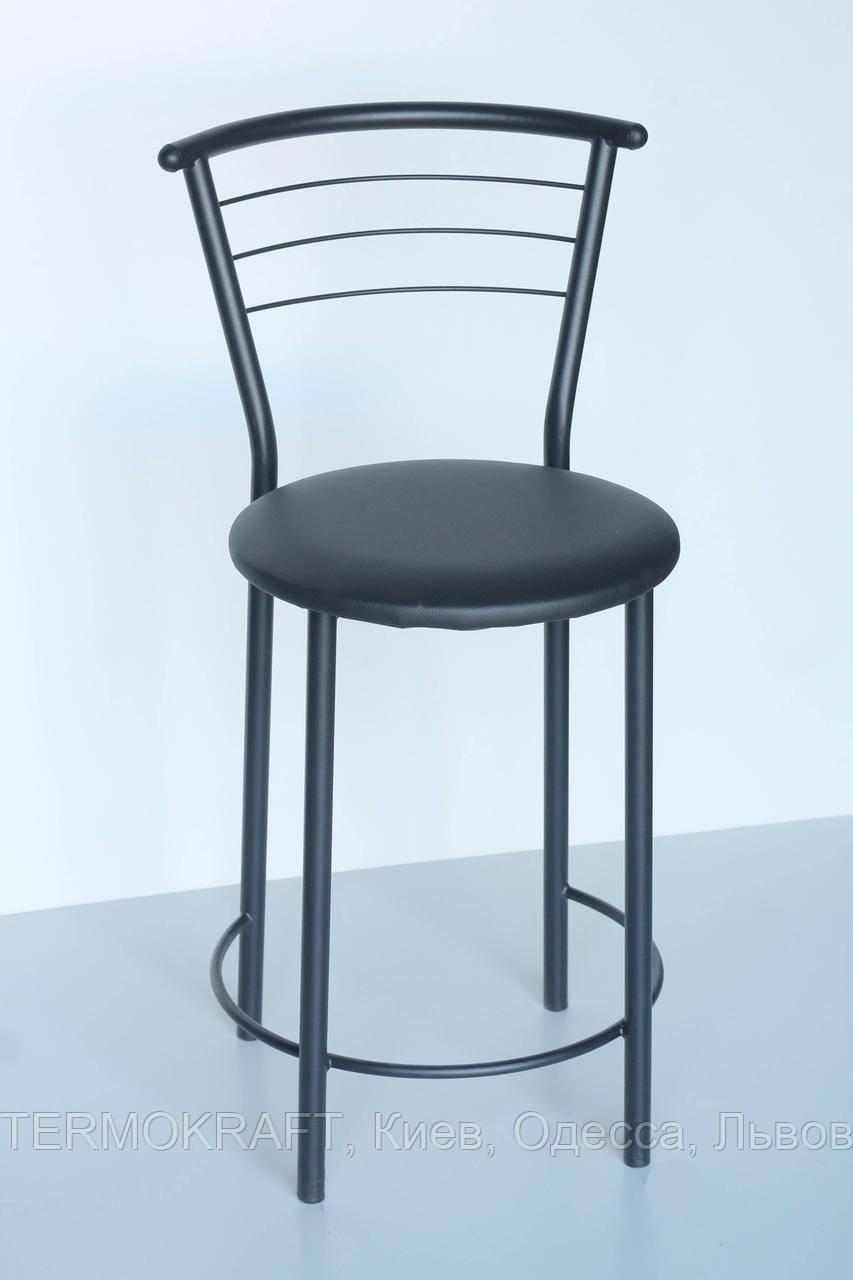 Стул кухонный Марко alum кожзам черный для бара, кафе, кухни