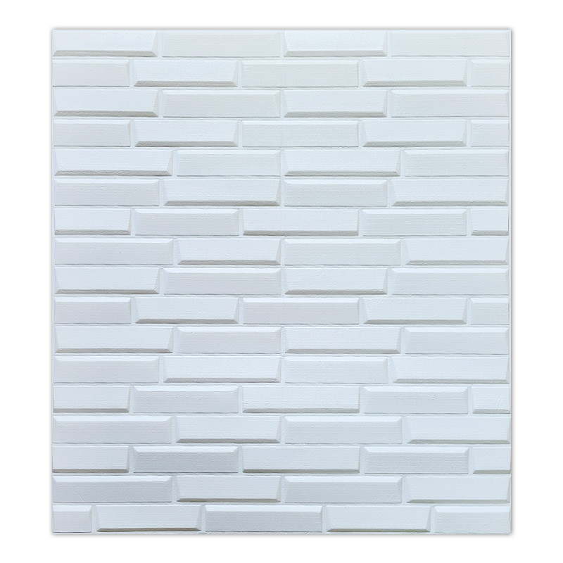 Самоклеющаяся декоративная 3D панель белая кладка 770х700х7 мм