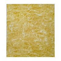 Самоклеющаяся декоративная 3D панель мрамор золотой 700x770x5мм, фото 1