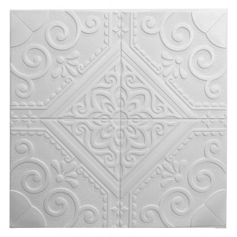 Самоклеющаяся декоративная потолочная 3D панель 700x700x7,5мм