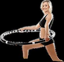 Масажний спортивний обруч HULA HOOP Professional з магнітами. Складаний Хула Хуп АМ 282, фото 3