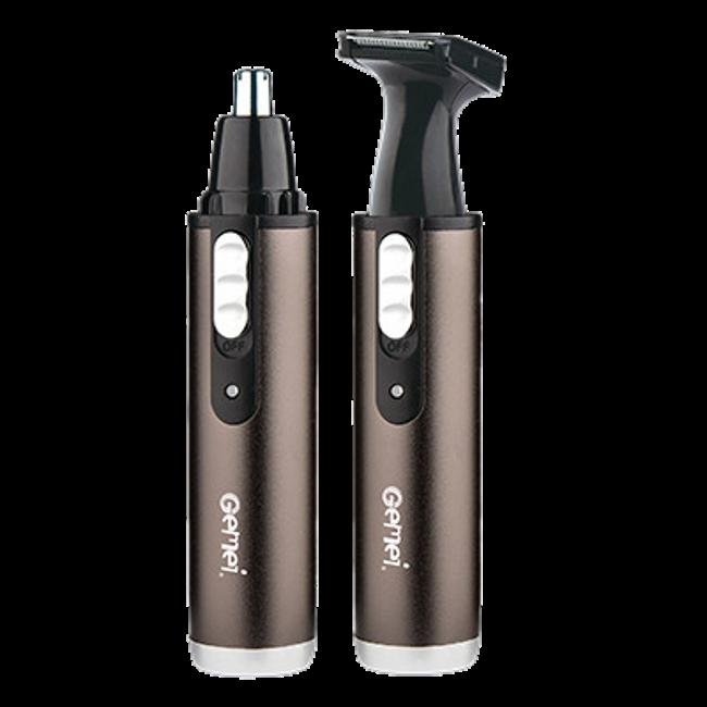 Тример Gemei GM-3112 2 в 1 - універсальна бритва для носа вух скронь і шиї