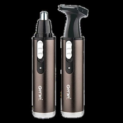 Тример Gemei GM-3112 2 в 1 - універсальна бритва для носа вух скронь і шиї, фото 2