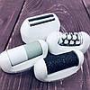 Эпилятор Gemei GM 7006 4в1 - Профеcсиональный женский беспроводной эпилятор бритва с насадками триммер + пемза, фото 6