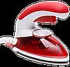 Ручной паровой отпариватель Mini Steam Iron HT-558B - компактный дорожный паровой утюг с щеткой Красный, фото 2