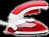 Ручной паровой отпариватель Mini Steam Iron HT-558B - компактный дорожный паровой утюг с щеткой Красный, фото 4