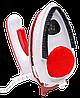 Ручной паровой отпариватель Mini Steam Iron HT-558B - компактный дорожный паровой утюг с щеткой Красный, фото 5