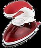 Ручной паровой отпариватель Mini Steam Iron HT-558B - компактный дорожный паровой утюг с щеткой Красный, фото 6
