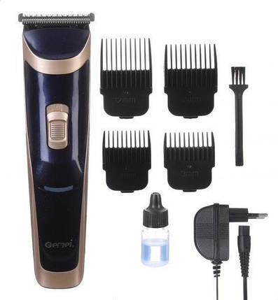 Бездротова машинка для стрижки волосся Gemei GM-6005, фото 2
