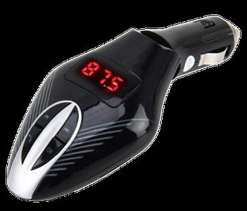 FM трансмітер MOD V7 + BT, MP3 модулятор, фм модулятор для авто, Трансмітер з екраном, блютуз модулятор