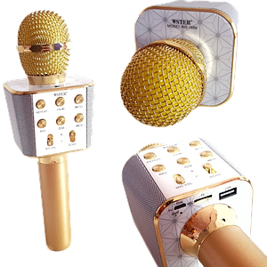 Мікрофон караоке WSTER WS-1688 - бездротової Bluetooth мікрофон з 5 тембрами голоси