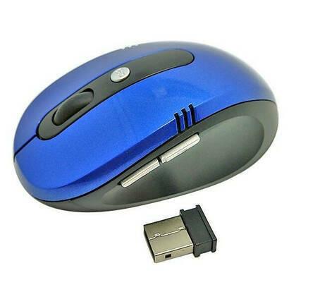 Компьютерная мышка G-108 - мышь беспроводная оптическая синяя