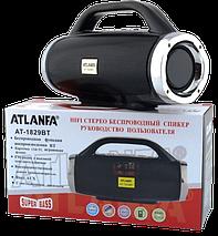 Портативная колонка Atlanfa 1829BT - беспроводная колонка с радио, USB, SD, Bluetooth, дисплеем, сабвуфером, фото 2