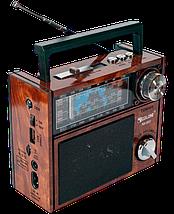 Радіоприймач GOLON RX-201 - портативний радіоприймач колонка MP3 з USB, акумулятором і Led-ліхтариком, фото 2