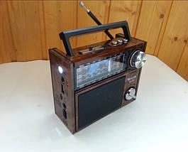 Радіоприймач GOLON RX-201 - портативний радіоприймач колонка MP3 з USB, акумулятором і Led-ліхтариком, фото 3