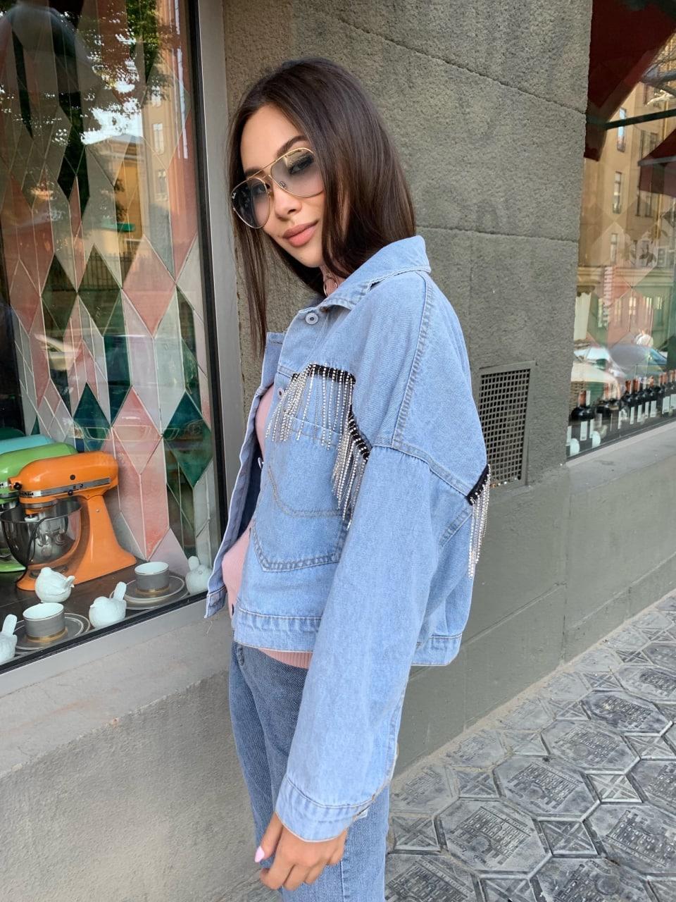 Модная Куртка Женская Джинс