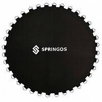 Прыжковое полотно (мат) для батута Springos 8FT 244 см (48 пружини) Black