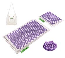 Коврик акупунктурный с подушкой 4FIZJO Eco Mat Аппликатор Кузнецова 68 x 42 см 4FJ0178 White/Purple