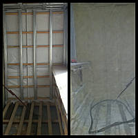 Утепление балконов пенополиуретаном (наныление ППУ).