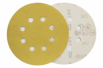 Круг шлифовальный на липучке 125 мм SAIT 5G P80 (с отв.)