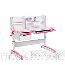 Комплект для принцессы👸 стол-трансформер Libro Pink+эргономичное кресло FunDesk Solerte Pink, фото 3