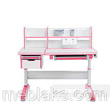 Растущий комплект стол-трансформер FunDesk Libro Pink + ортопедическое кресло FunDesk Contento Grey, фото 3