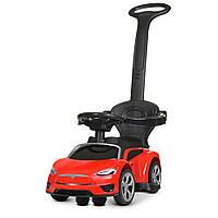 Детский электромобиль каталка толокар в стиле Lamborghini M 4318L-3 красный