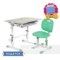 Комплект растущая парта для дома fundesk lavoro l grey+детский стул fundesk sst2 green FUNDESK